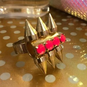 Top Shop Pink & Gold Spike Ring